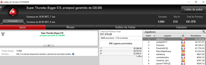pi$toleiro e Squeezamos Brilham na Super Thursday da PokerStars.FRESPT 101