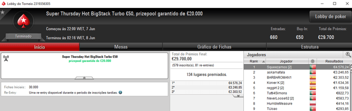 pi$toleiro e Squeezamos Brilham na Super Thursday da PokerStars.FRESPT 102