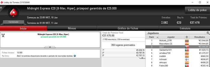 SuSanch0 Volta a Brilhar nos Torneios Regulares da PokerStars.FRESPT 103