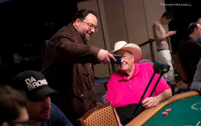 Todd Brunson takes a selfie with his father Doyle Brunson