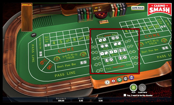 Proposition Bets Playing Craps Betting Rules