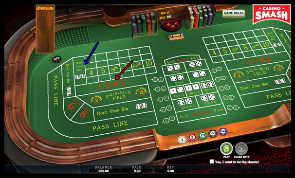 Casino Craps Table Layout