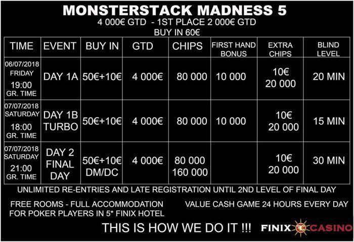 Έρχεται το Monstestack Madness 5 στο Finix Casino με €4,000 gtd! 101