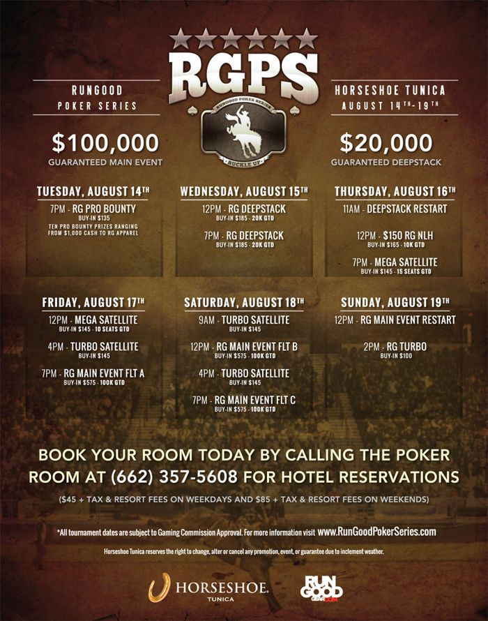 RunGood Announces Six-Stop Season With Old West Theme and Big Blind Ante 102