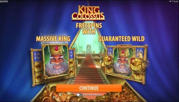King Colossus free real money slots no deposit at BGO Casino