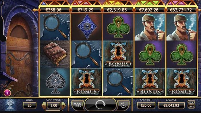 win free money at holmes and the stolen stones