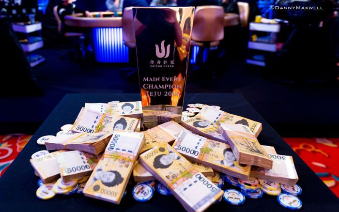 2018 Triton Super High Roller Series Jeju HK$2,000,000 Main Event Winner Trophy