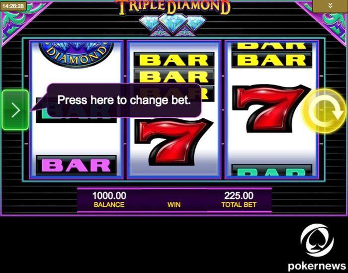 Triple Diamond Slot Machine: Review and Free Play Demo