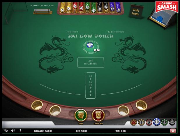 pai gow poker bet