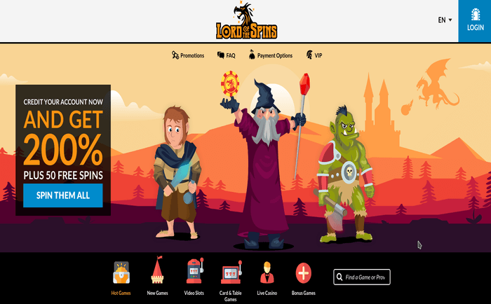 New Online Casino Lord of the Spins