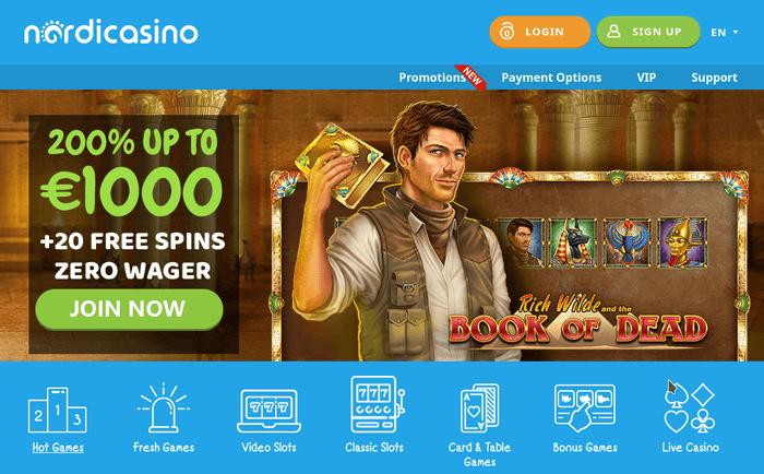 Newest Online Casino NordiCasino