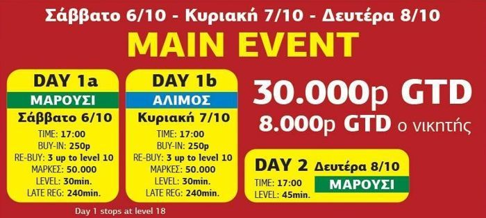 Μεγάλο φεστιβάλ πόκερ του ΟΦΙΤΕΧ 1 Οκτωβρίου με 3... 101