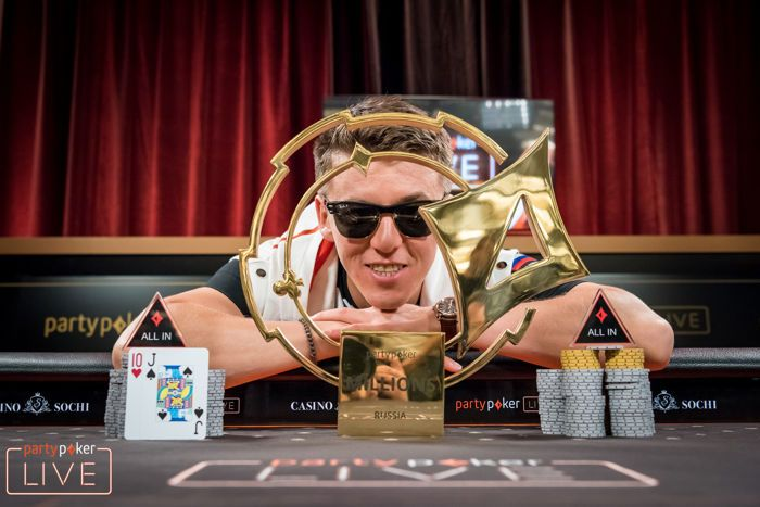 Anatoly Filatov Wins the 2018 partypoker LIVE MILLIONS Russia Main Event