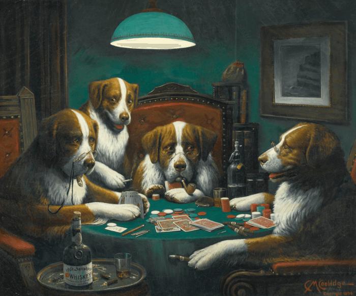 Povestea din spatele faimoaselor tablouri cu caini jucand poker 102