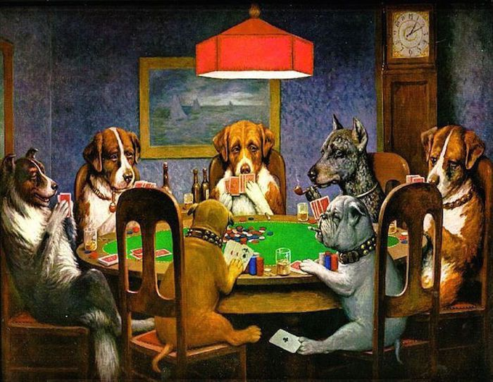 Povestea din spatele faimoaselor tablouri cu caini jucand poker 101