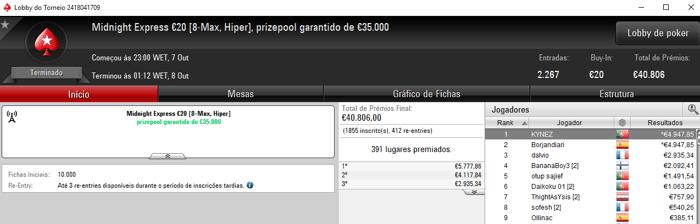 JonnhyBet^^, Tjpp544@ e yeshao no Top 5 d'O Clássico €10 & Mais 102