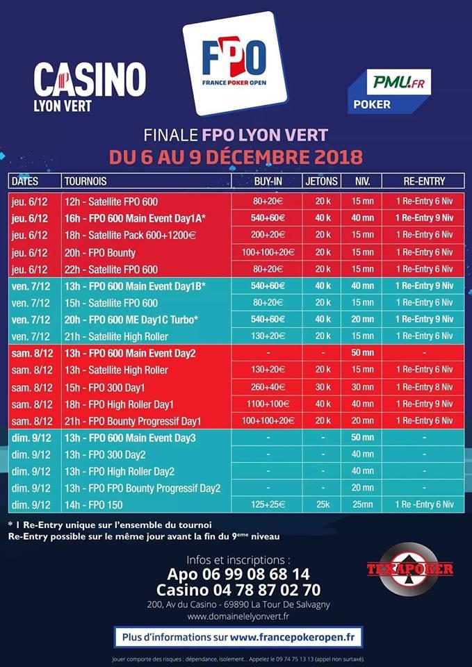 FPO : Le programme complet de la finale au Lyon Vert 101