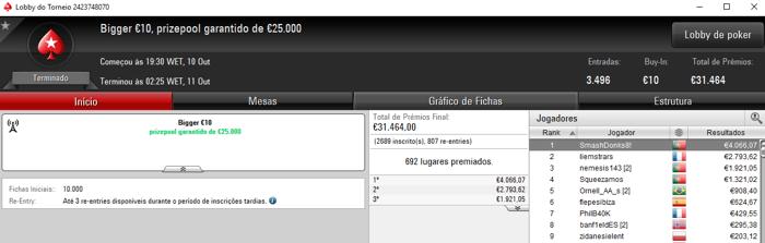 PokerStars.FRESPT: SmashDonks8! Conquista o Bigger €10 & Mais 101