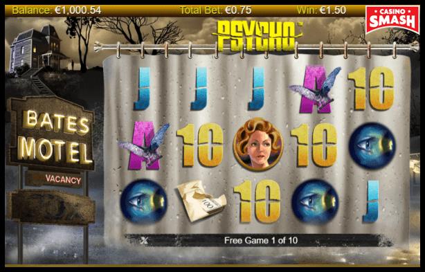 Psycho Slot Machine Features