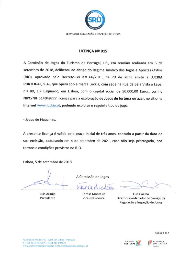Luckia Recebe Licenças para Apostas Desportivas e Jogos de Máquinas 102