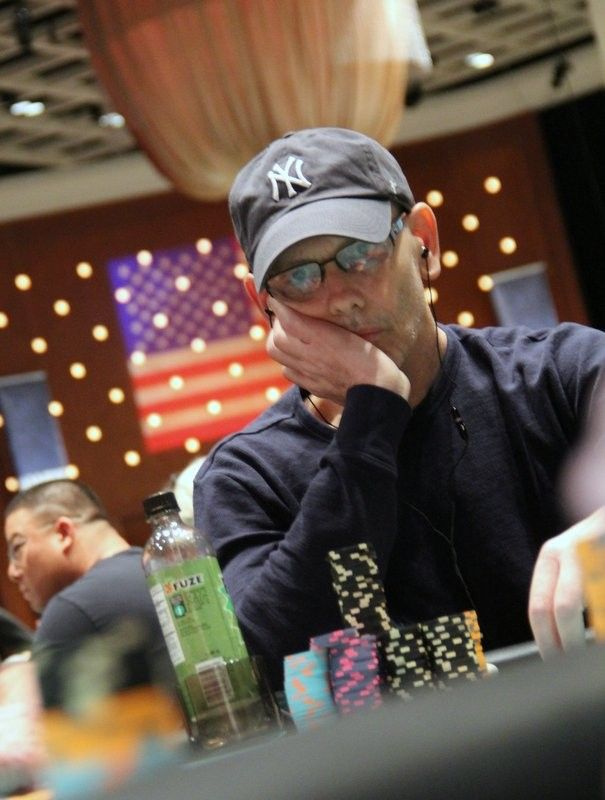 Chad Brown on Day 2 of the 2014 WPT Borgata Winter Poker Open Main Event
