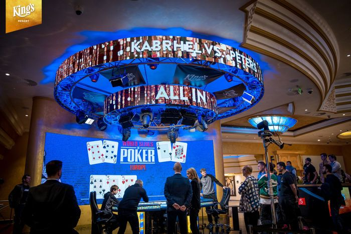 David Peters versus Martin Kabrhel in the last hand of the WSOPE Super High Roller