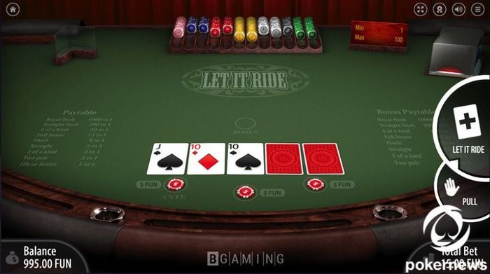 Play Let It Ride Poker Online The Best Poker Games Online Pokernews