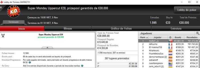 NuBaY_ZJ, wannab333 e Fellini33 com Super Monday na PokerStars.FRESPT 101