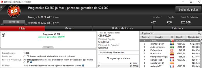 NuBaY_ZJ, wannab333 e Fellini33 com Super Monday na PokerStars.FRESPT 103
