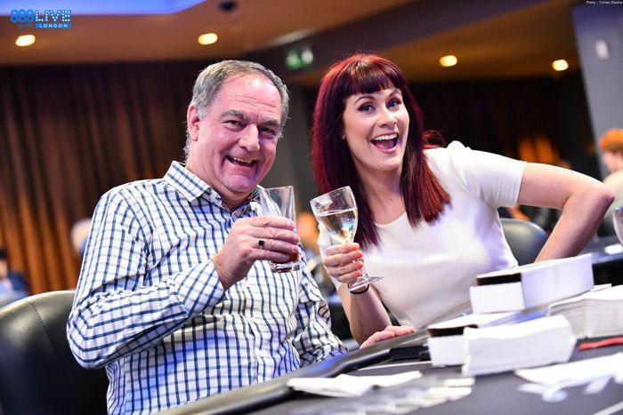 John Hesp and PokerNews' Sarah Herring