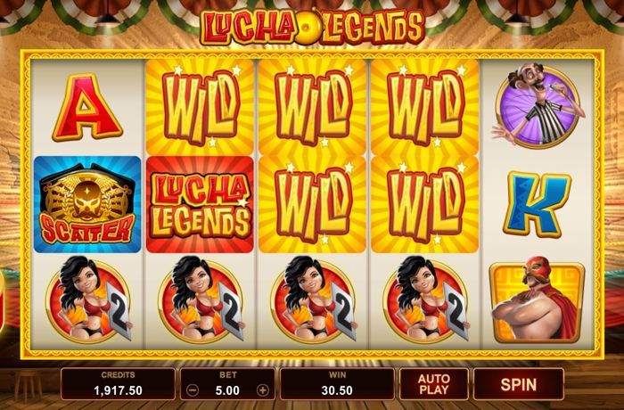 lucha legends microgaming slot play