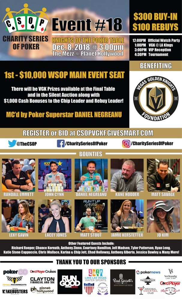 Having Fun and Playing to Win in Charity Poker Tournaments 101