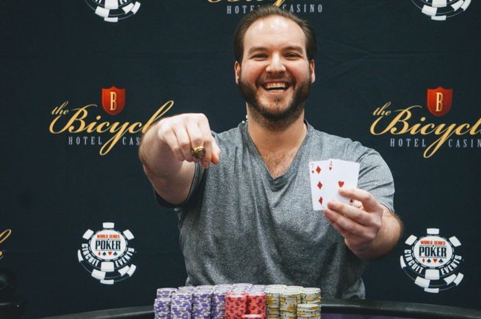 Chris DeMaci wins his first WSOPC gold ring.
