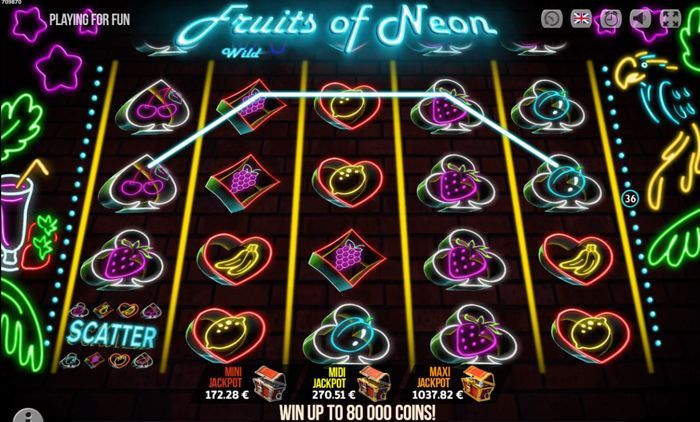 fruits of neon free online slot