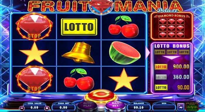 fruit mania deluxe slots game play
