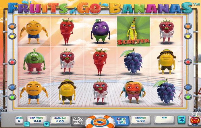 fruits go bananas slot machine