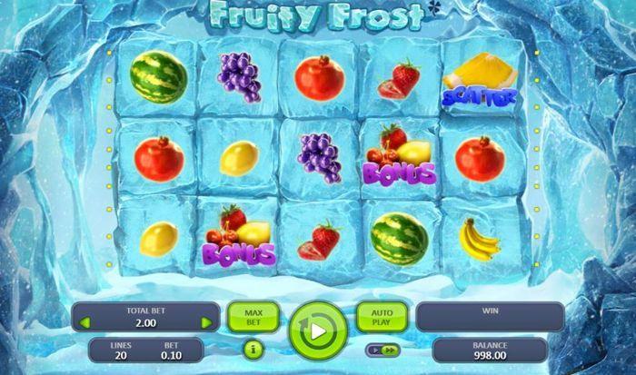 fruity frost slots