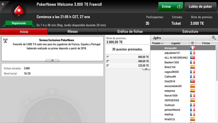 3.000T€ en juego en nuestro freeroll mensual en PokerStars 101