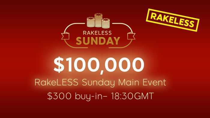 888poker RakeLESS Sunday Main Event