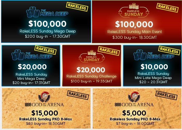 888poker Hosting Seven Rake-Free Tournaments This Sunday 101