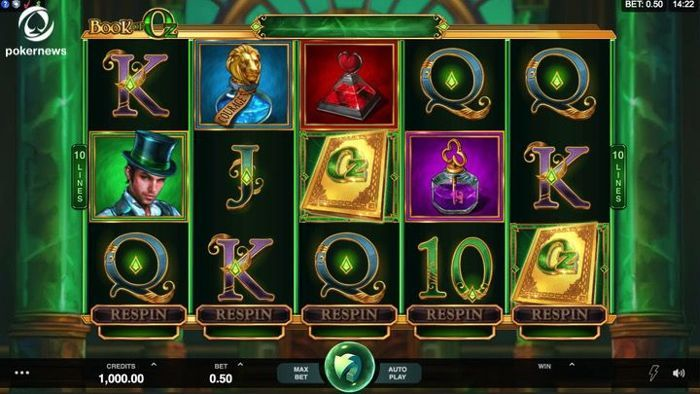 Book of Oz games provide infinite fun with the respin feature