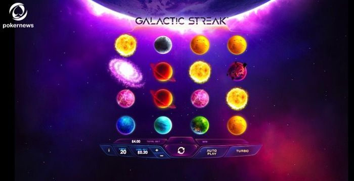 Go for the max bonus on Galactic streak - it's the best part of playing online Slots