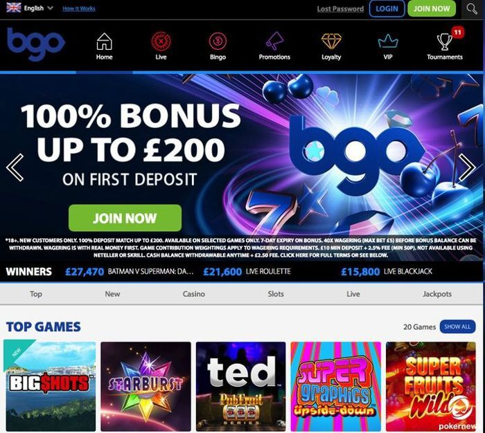 BGO Casino UK