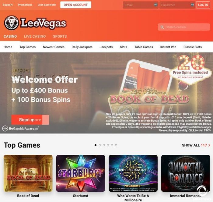 LeoVegas Casino Online UK