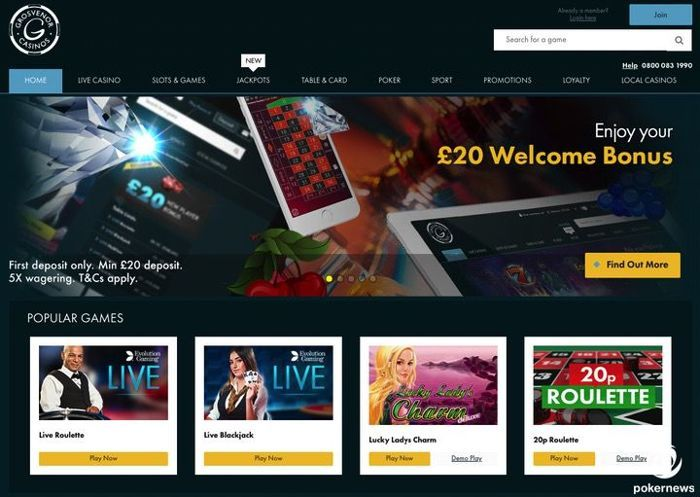 Grosvenor Casino Online UK