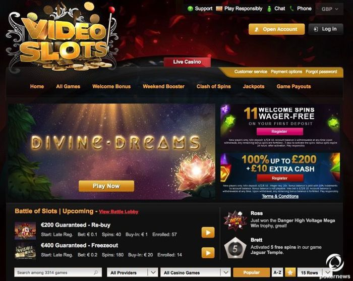 Best Video Slots Site United Kingdom 2020