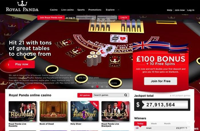 Royal Panda Casino UK