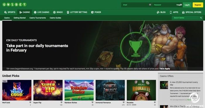 Unibet Casino Online UK