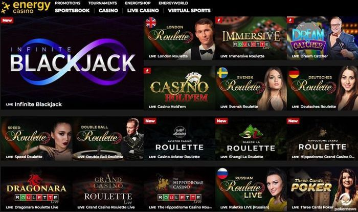 Energy Casino features a VIP program similar to Star Rewards at PokerStars Casino
