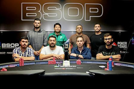 Mesa Final do Main Event do BSOP Iguazu